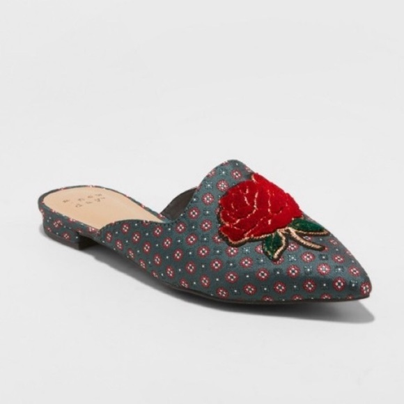 c09109c332be a new day Shoes | Nwt Target Jen Rose Patch Mules 11 | Poshmark